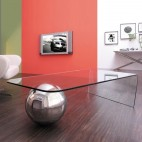 Table basse design rectangulaire Verre trempé Arga