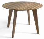 Table ronde contemporaine bois plaqué Noyer Louna 120