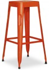 Tabouret acier orange mat Tolix 75