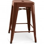 Tabouret métal marron brillant H 60 Industriel