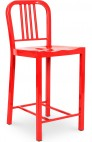 Tabouret bar métal rouge Navy 60 cm