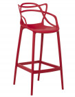 Tabouret moderne avec accoudoirs polypropylène rouge Beliano