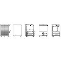 caisson de bureau blanc impression paris orga 70. Black Bedroom Furniture Sets. Home Design Ideas