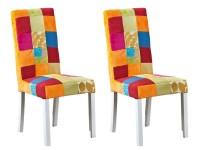 Chaise Tissu Patchwork Lot De 2
