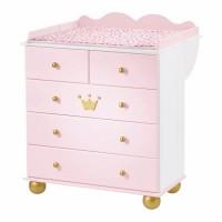 Chambre B B Bois Massif Pic A Blanc Et Rose Princesse
