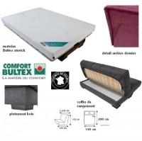 clic clac bordeaux matelas bultex 15 cm ballina. Black Bedroom Furniture Sets. Home Design Ideas