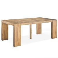 console extensible bois massif capuccino 50 250 cm 12. Black Bedroom Furniture Sets. Home Design Ideas