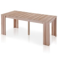 console extensible ch ne clair kunz 40 190 cm 10. Black Bedroom Furniture Sets. Home Design Ideas