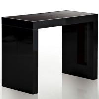 Table console extensible noir laqu 50 250 cm 12 personnes jade lestend - Console extensible 250 cm ...