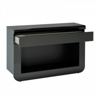 console laqu e blanche koyd mod le sans led. Black Bedroom Furniture Sets. Home Design Ideas