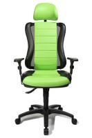 Fauteuil de bureau vert et noir head point rs avec t ti re topstar he30ps s105x - Fauteuil de bureau 200 kg ...