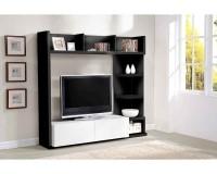 Living TV Noir et blanc laqué Atly - LesTendances.fr