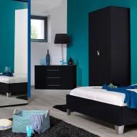 lit laqu noir first couchage 90 x 190 cm. Black Bedroom Furniture Sets. Home Design Ideas