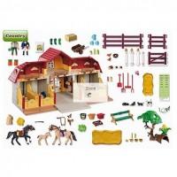 Playmobil 5221 haras avec chevaux et enclos - Playmobil haras ...