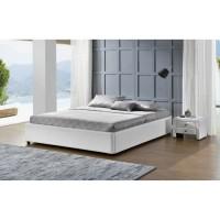 cadre de lit simili blanc avec coffre 140 x 190 cm hotel. Black Bedroom Furniture Sets. Home Design Ideas