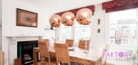 suspension boule cuivre d 25 cm. Black Bedroom Furniture Sets. Home Design Ideas