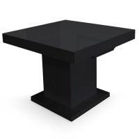 Table extensible noir laqu e klassi for Table extensible mustang