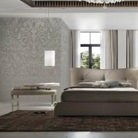 banc de lit effet cuir marron dezina. Black Bedroom Furniture Sets. Home Design Ideas