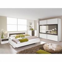 armoire adulte blanche et marron renda longueur 226 cm. Black Bedroom Furniture Sets. Home Design Ideas