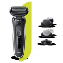 BRAUN Series 5 50-W4650cs Tondeuse barbe - 3 sabots - Station de charge - Technologie Wet&Dry - Autonomie 50min