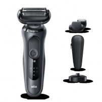 BRAUN Series 6 60-N4500cs Tondeuse barbe - 3 sabots - Station de charge - Technologie SensoFlex -Autonomie 50min