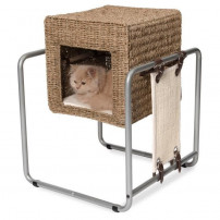 CATIT Meuble a chat V-Cube - Rotin