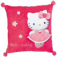 Coussin carré brodé Hello Kitty Ballerine