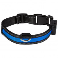 EYENIMAL Collier lumineux Light Collar USB rechargeable S - Bleu - Pour chien