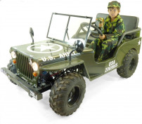 Jeep enfant 150cc semi-automatique verte