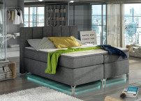 Lit boxspring 140x200 cm tissu anthracite Balfor