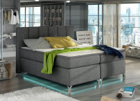 Lit boxspring 180x200 cm tissu anthracite Balfor