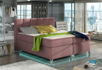 Lit boxspring 180x200 cm tissu rose clair Balfor