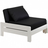Fauteuil transformable pin massif laqué blanc Pino 80x200 cm