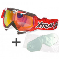Lunette moto cross Xtrm rouge