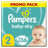 Pampers Baby-Dry Taille 2, 136 Couches