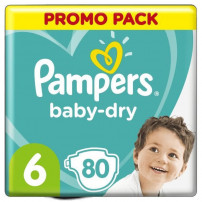 Pampers Baby-Dry Taille 6, 80 Couches