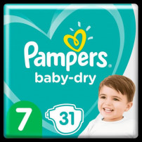 Pampers Baby-Dry Taille 7, 31 Couches