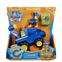 PAT PATROUILLE - VEHICULE + FIGURINE DELUXE CHASE DINO RESCUE Paw Patrol - 6059512 - Voiture a remonter Jeu Jouet Enfant 3 ans