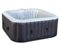Spa carré gonflable noir 4 places Kampy 154 cm