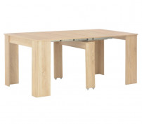 Table console extensible chêne clair Lamio