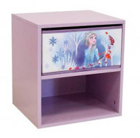 Table de chevet 1 tiroir 1 niche Reine des neiges Disney