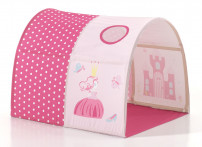 Tunnel de lit tissu rose Princess