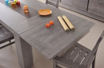 Allonge de table gris chêne Bella - Lot de 2