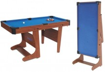 Billard Clifton pliable 4ft 1/2 tapis bleu
