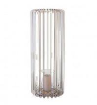 Bougeoir cylindrique plexiglas transparent Personello