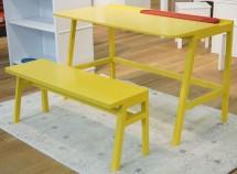 Bureau enfant jaune lestendances.fr