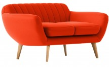 Canapé 2 places scandinave tissu orange Nordy