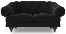Canapé ultra confortable Velours noir Chesterfield