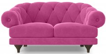 Canapé ultra confortable Velours rose Chesterfield