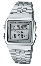 Casio A-500wa-7 Vintage World Time Alarm Map Display **original Box** A500WA-7